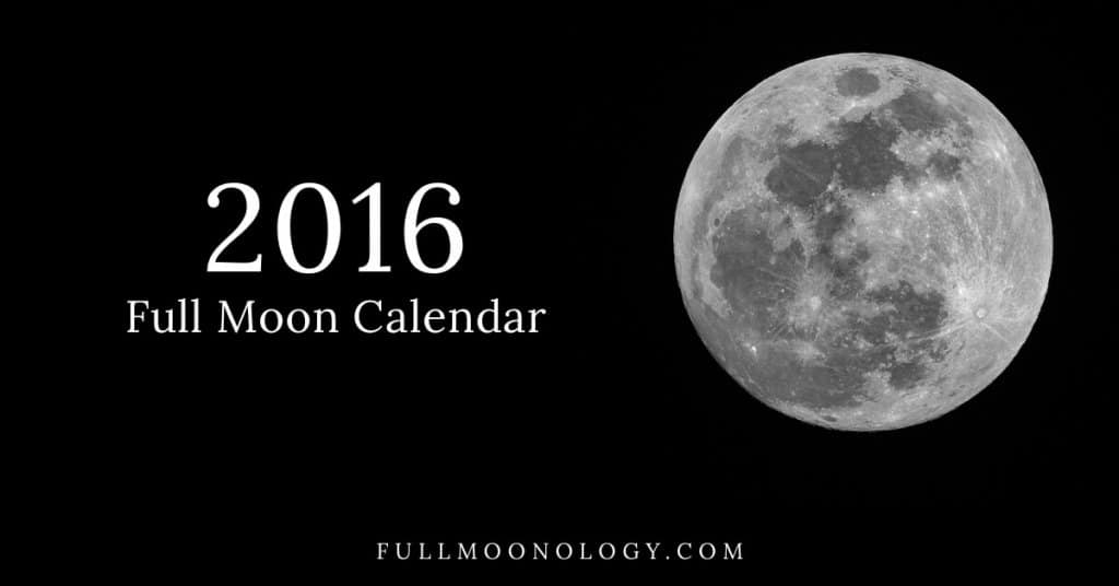 Picture of full moon for the 2016 Full Moon Calendar