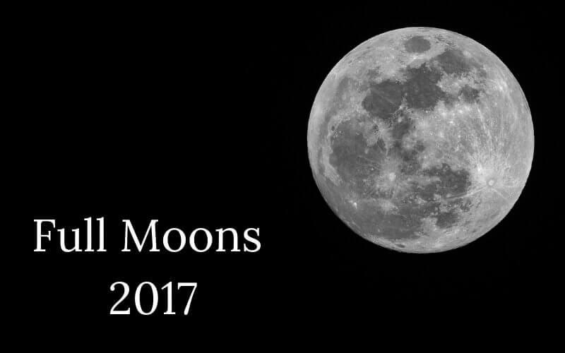 Full Moon Calendar 2017