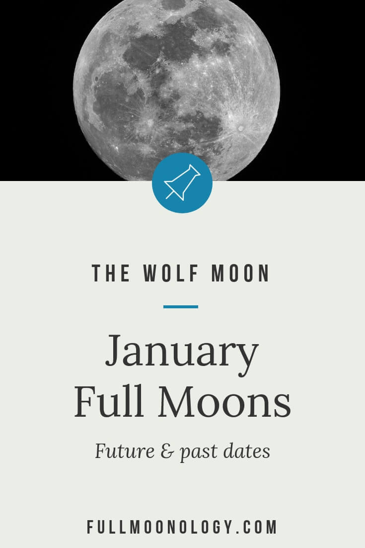 Full Moon January Dates