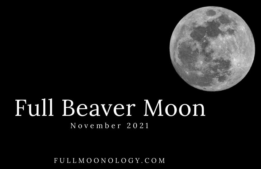 Picture of the Full Beaver Moon 2021, the November Full Moon