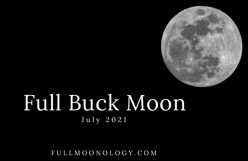 Picture of the Full Buck Moon 2021, the July Full Moon