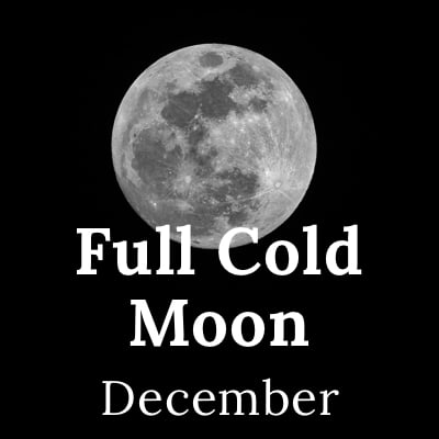 Full Cold Moon 2020 (December)
