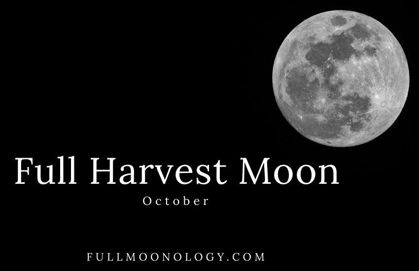 Picture of the Full Harvest Moon 2020, the October Full Moon