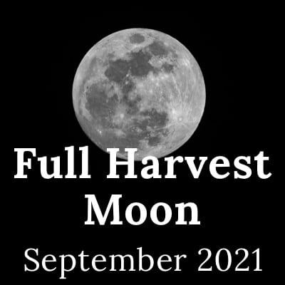 Picture of the Full Harvest Moon 2021, the September Full Moon