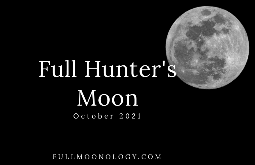 Picture of the Full Hunter's Moon 2021, the October Full Moon