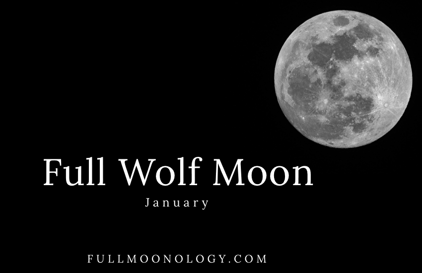 Picture of the Full Wolf Moon for January